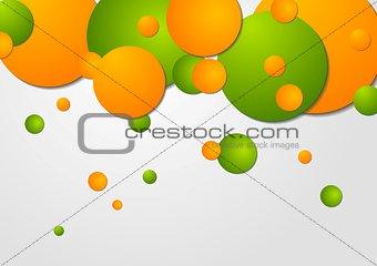 Bright circles vector design