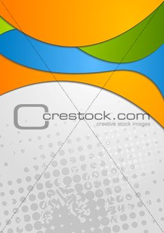 Abstract elegant wavy design