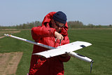 Man assembly RC glider