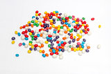 colorful candy scattered