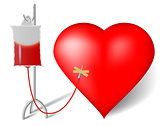 Blood transfusion to heart