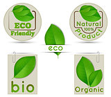 Labels ecology and bio and natural