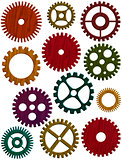 Wooden Gears Illustration