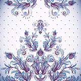 Vintage background, baroque pattern