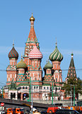 In Red Square, St. Basil's Cathedral_stock