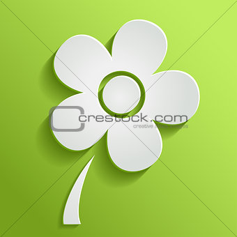 Spring flower on green background