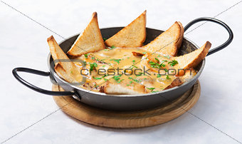 hot dish with seafood