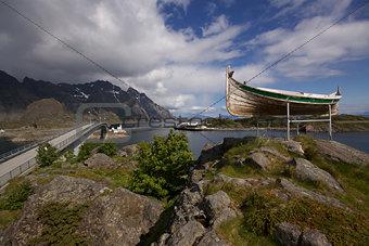 Fishing boat near Henningsvaer