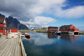 Fishing port in Henningsvaer