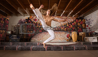 Capoeira Flying Kick