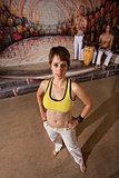Confident Capoeira Performer