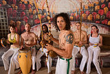 Latino Capoeira Performer with Group
