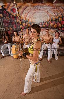 Capoeira Berimbau Musician with Friends