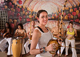 Happy Capoeira Musician