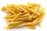 Delicious slices of french fries