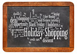 holiday shopping word cloud
