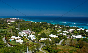 Aerial view of Bermuda South shore