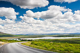 Icelandic summer landscape.