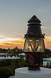 Lantern at sunset