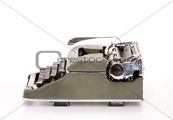 Old mechanical typewriter