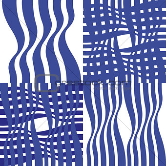Four simple abstract patterns