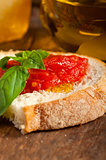 Italian fresh tomato and basil bruschetta