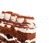whipped cream dessert cake slice