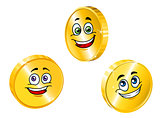 Golden smiling coins