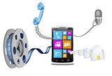 Modern phone.