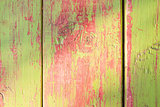 Green and red wood background