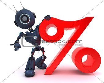 Android with percentage symbol