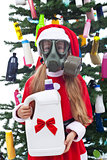 Toxic christmas - environmental concept