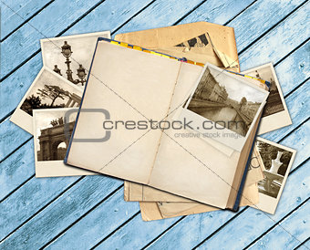 Old book and photos