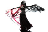arabic woman belly dancer dancing silhouette