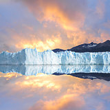 Glacier with reflection.