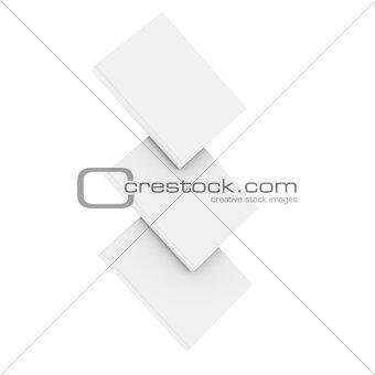 Three white book