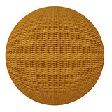 Ball woven from wooden rods