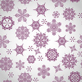 Vector Seamless Winter Pattern with Snowflakes