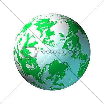 Green and White Globe