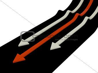 Arrows, 3D