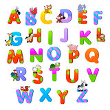Alphabet with animals.
