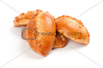 Fresh buns with apple, baked pasties
