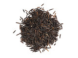 raw wild rice on white background