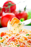 Fettuccine with tomato