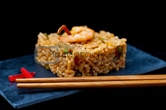 rice and chopstick