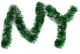 Two letters from a green tinsel as a symbol of the New Year