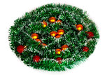 Christmas wreath of tinsel and balls