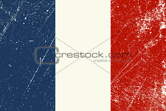 French Flag vintage