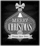 Merry Christmas - Chalkboard.