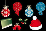 Various isolated Christmas objects